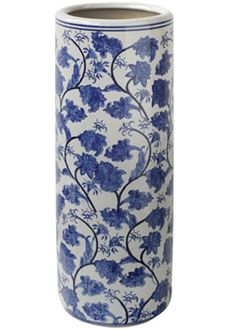 Blue White Ceramic Umbrella Stand From Ji Garden Holder Stands