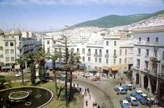 Tetouan, Morocco with Judy, Joe, and Peggy . I still dream of this square.