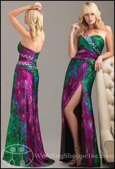 c72f435c52 Exotic Prom Dresses The Peacock Dress Prom Trend - Wedding Shoppe
