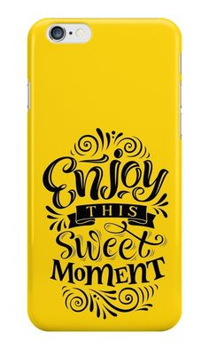 Our Enjoy This Sweet Moment Phone Case is available online now for just £5.99.    Check out our super cute Enjoy This Sweet Moment phone case, available for iPhone, iPod & Samsung models.    Material: Plastic, Production Method: Printed, Weight: 28g, Thickness: 12mm, Colour Sides: Clear, Compatible With: iPhone 4/4s | iPhone 5/5s/SE | iPhone 5c | iPhone 6/6s | iPhone 7 | iPod 4th/5th Generation | Galaxy S4 | Galaxy S5 | Galaxy S6 | Galaxy S6 Edge | Galaxy S7 | Galaxy S7 Edge | Galaxy S8 | Ga