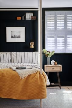 Luxury Bedding Sets For Less Refferal: 3182767507 Awesome Bedrooms, Beautiful Bedrooms, House Beautiful, Bedroom Shutters, White Shutters, Cedar Shutters, Bedroom Orange, Cheap Bed Sheets, Luxury Bedding Sets