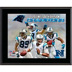 NFL - Carolina Panthers 2013 NFC South Champs Sublimated 10.5x13 Plaque