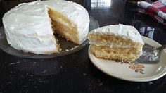 Coconut Quick-Mix Yellow Cake with Marshmallow Frosting - All Homemade, No Chemicals, From Scratch!
