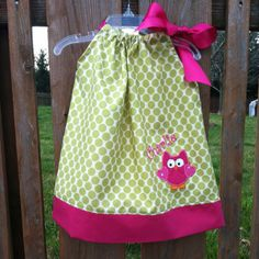 Cute owl dress for a birthday party