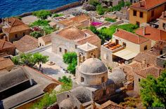 The most beautiful hidden city in the world is Greek.  Located wedged on the slopes of a huge rock