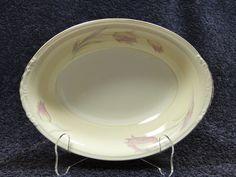 """Homer Laughlin Eggshell Nautilus Tulip Oval Vegetable Serving Bowl 9 1/4"""" MINT! #HomerLaughlin"""