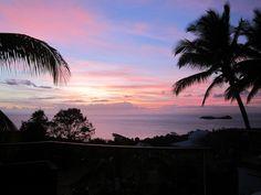 coucher de soleil a bouillante -  Photos de vacances de Antilles Location #Guadeloupe