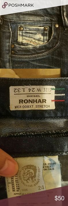 ORIGINAL DIESEL RONHAR JEANS Distress jeans , size 24 x 32 long, wear twice ,perfect condition , smoke free home Diesel Jeans