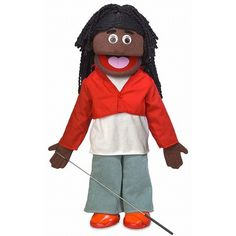 African American Silly Puppets Pops 25 inch Full Body Puppet
