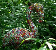bedazzled lawn flamingo