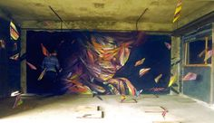Hopare Completes Three-Dimensional Mural in Paris (8 pictures)