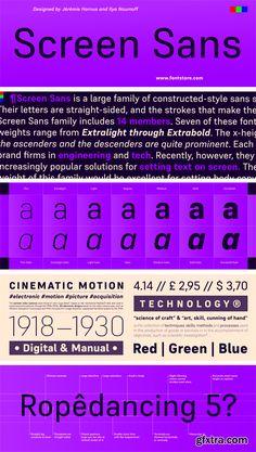 Screen Sans Font Family