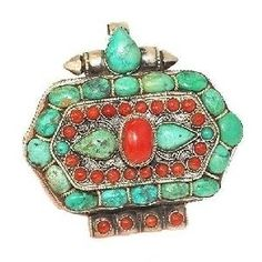 Tibetan turquoise red coral jewelry.