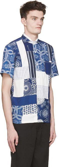 Farb- und Stilberatung mit www.farben-reich.com - Junya Watanabe Blue Patchwork…