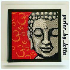 Buddha portrait hama beads by  perler_by_lotta