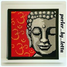Buddha portrait hama beads by  perler_by_lotta