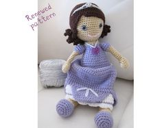 Princess sofia the first crochet pinterest princess sofia crochet doll pattern amigurumi pattern fandeluxe Images