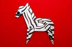 Origami  - Zebra       Zebra (nível avançado)        Diagrama: autor…