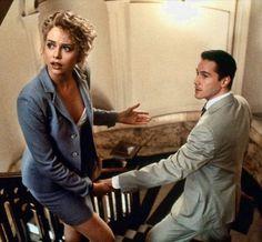 """Charlize Theron y Keanu Reeves en """"Pactar con el diablo"""", 1997"""