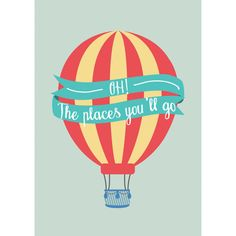 Oh The Places You'll Go Print Dr Seuss Kids by oflifeandlemons