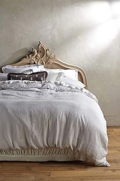 Bedroom: Soft-Washed Linen Duvet - anthropologie.com