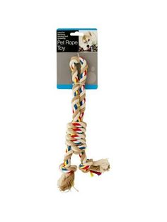 Colorful Knotted Pet Rope Toy with Handle