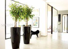 Pot de fleurs rond Santorini Diam 40cm Ht 78 cm - achetez Pot de fleurs rond Santorini Diam 40cm Ht 78 cm a prix reduit - LeKingStore