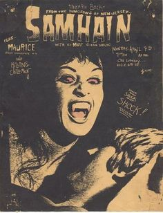 Samhain puink hardcore flyer