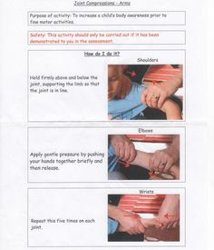 joint compressions- arms