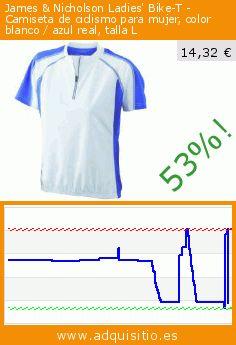 James & Nicholson Ladies' Bike-T - Camiseta de ciclismo para mujer, color blanco / azul real, talla L (Sports Apparel). Baja 53%! Precio actual 14,32 €, el precio anterior fue de 30,20 €. https://www.adquisitio.es/james-nicholson/camiseta-mujer-tama%C3%B1o-l-34