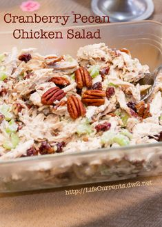 Cranberry Pecan Chicken Salad is perfect for any party! And it's really easy to make.