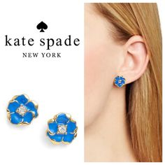 "Kate Spade 14k Gold Flower Earrings Beautiful 14k gold filled Beach House Bouquet earrings from Kate Spade New York, great dressed up for work or down on the weekend. First pic is similar Kate Spade earring for reference which is smaller. 7/8"" wide kate spade Jewelry Earrings"