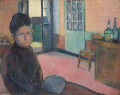 Émile Bernard (French, 1868-1941), Portrait de Madame Schuffenecker, 1888. Oil on canvas, 31.9 x 40.4 cm.