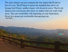 Lessons Learned in Life | How many chances do you give?