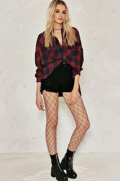 Holly Oversized Check Shirtalternative image
