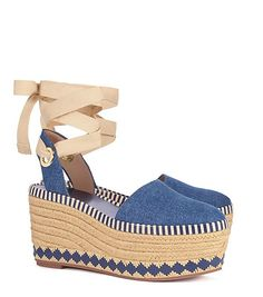 Tory Burch Dandy Denim Espadrille Wedge