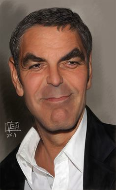 Caricatura de George Clooney.