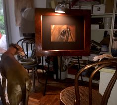 Painting with Dali' lucillabolllati.com #horse#greyhounds