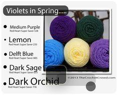 Red Heart Super Saver Color Mix: Violets in Spring