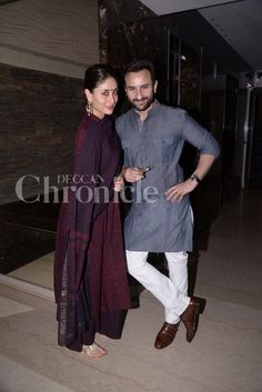 Saif Ali Khan was the proud brother of the bride-to-be at Soha Ali Khan's mehendi ceremony. Saif, along with wifey Kareena Kapoor Khan pampered sis S. Wedding Dresses Men Indian, Wedding Dress Men, Indian Dresses, Indian Outfits, Male Outfits, Wedding Outfits, Casual Outfits, Indian Groom Wear, Indian Attire