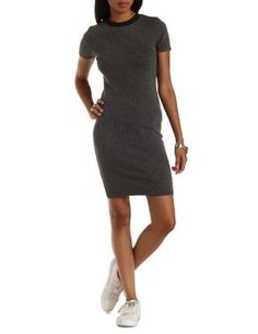 Ribbed T-Shirt Dress