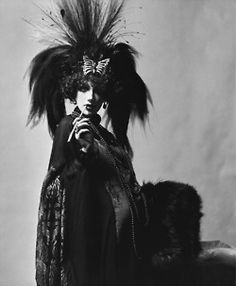 Marisa Berenson dressed as the Marchesa Casati for the Rothschild Ball, 1971  Photographer: Cecil Beaton