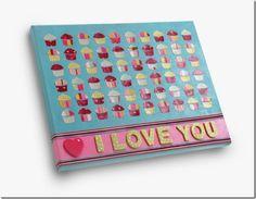 I Love You cupcake canvas