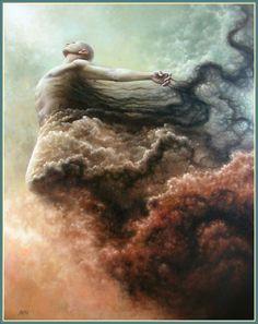 """PURIFICATION"" By Tomasz Alen Kopera. 2009. Oil on canvas 36""x28"""