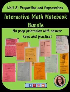 This growing bundle includes: Using Exponents Order Math Notebooks, Interactive Notebooks, Equivalent Expressions, Teacher Pay Teachers, Printables, The Unit, Education, Print Templates, Math Journals