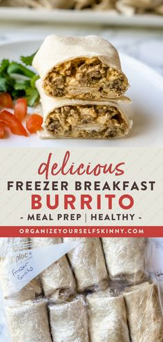 These healthy breakfast burritos can be thrown together in a snap. Even better? Make a batch of these frozen burritos and keep them on hand for a quick, protein-fueled breakfast in the mornings. Organize Yourself Skinny Healthy Meal Prep Recipes