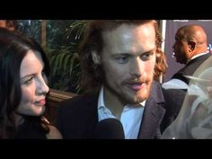 "Sam Heughan and Caitriona stars of OUTLANDER talk about ""the"" wedding night! At BAFTA/LA Awards Season Tea - Did he REALLY say THAT?  LOL"