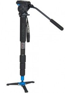 Benro Carbon Fiber Video Monopod with Tripod Foot