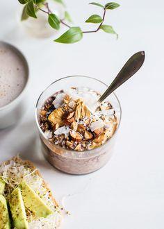 recept overnight oats med choklad och jordnötssmör