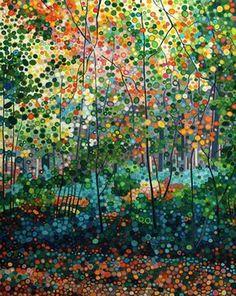 Ewa Adams Golden Woods  Acrylic on Canvas 41 x 51 cm